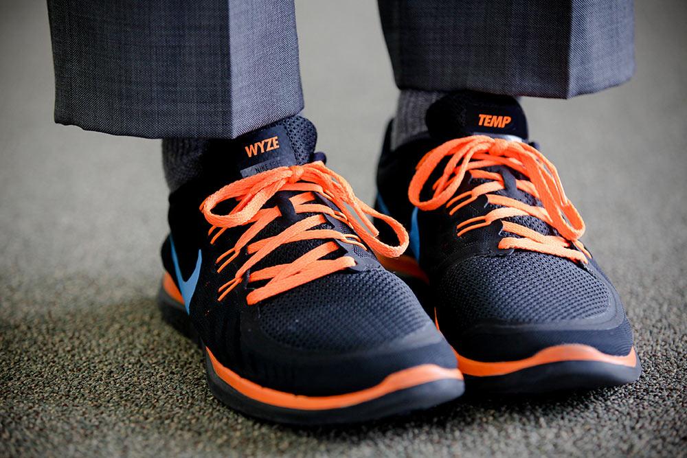 Wyze Temp custom tennis shoes