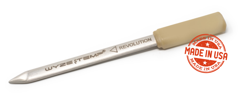 Wyze Temp Revolution wireless battery-free temperature probe made in the USA